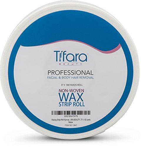"Tifara Beauty Non Woven Body and Facial Wax Strip Roll 3"" X 100YD : Beauty"