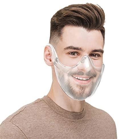 Kaplorei Clear Face_Shields Visor Transparent Anti Fog Shields, Upgraded Breathable Combine Plastic Reusable Glasses Lightweight Face Covering Face Guard (A-2PCS): Home & Kitchen
