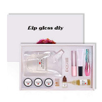 Reddhoon DIY Lip Gloss Making Kit, Make Your Own Lip Gloss, Lip Gloss Base Oil Material with Lip Polish Tube, Powder Pigment, Olive Oil and Other Tools, Handmade Lip Gloss (02# Matte) : Beauty