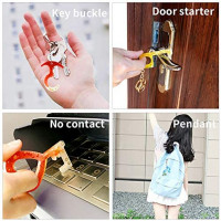 No Touch Door Opener Silicone Resin Molds, 3Pcs Keychain Epoxy Resin Molds with Hole, 4 Keychain, 10 Key Rings and 10 Keychain Tassels, DIY No Touch Door Opener Tool.: Arts, Crafts & Sewing