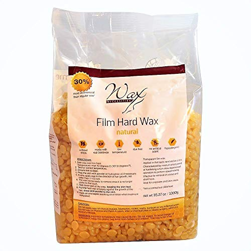 Wax Necessities Hard Wax Beads Natural 2.2 Pound : Beauty