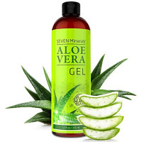 Aloe Vera Gel - 99% Organic, Big 12 oz - NO XANTHAN, so it Absorbs Rapidly with No Sticky Residue - made from REAL JUICE, NOT POWDER: Beauty