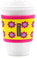 Java Sok Reusable Hot Coffee Cup Sleeve for Hot Coffee and Tea from Starbucks Coffee, McDonalds, Dunkin Donuts, More (Retro): Kitchen & Dining