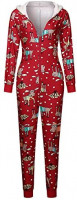 Women's One Piece Printed Onsie Sleepwear Ugly Christmas Pajamas V-Neck Hoodie Clubwear Jumpsuit Rompers at Women's Clothing store