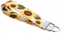 Celokiy Sunflower Wristlet Keychain Bracelet for Women, 100% Cotton Fabric Key Chain (B): Shoes