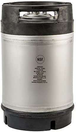 2.5 Gallon New Amcyl Ball Lock Keg with Dual Rubber Handle: Appliances