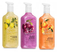Bath and Body Works 3 Pack Creamy Luxe Hand Soap. 8 Oz. Kitchen Lemon, Black Cherry Merlot and Peach Bellini. : Beauty
