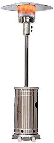 48000 Btu Propane Patio Heater for Outdoor Heating, Stainless Steel Standing Patio Heaters Portable: Kitchen & Dining