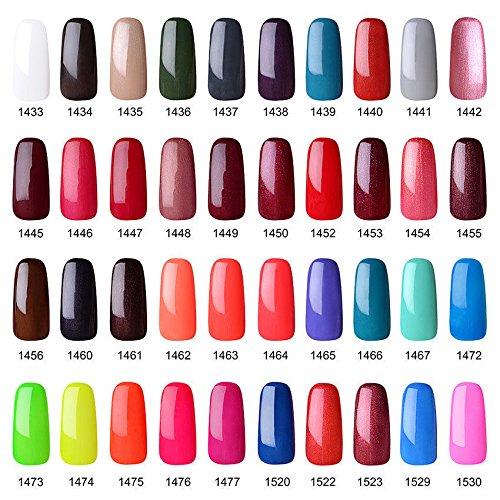 Vishine Gelpolish Professional Manicure Salon UV LED Soak Off Gel Nail Polish Varnish Color Ivory(1346) : Beauty