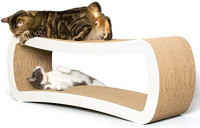 PetFusion Jumbo Cat Scratcher Lounge. 39 x 11 x 14 inches (lwh) [Superior Cardboard & Construction, Significantly outlasts Cheaper alternatives] : Pet Supplies