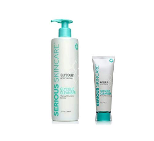 Glycolic Cleanser with Full Size 4 oz Bonus by Serious Skincare : Beauty