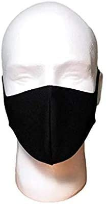 Washable Black Mask - 1 Layer Very Lightweight - 4 Pack - Face Masks for Women, Men, Adults - Thin Breathable: Health & Personal Care