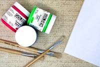 Golden Fluorescent Acrylic Colors Set | 4 Oz Heavy Body Acrylic Paint | Complete Set of 8 Fluorescent Colors