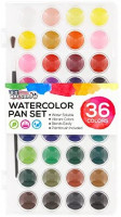 U.S. Art Supply 36 Color Watercolor Artist Paint Set with Plastic Palette Lid Case and Paintbrush - Watersoluable Cakes: Home Improvement