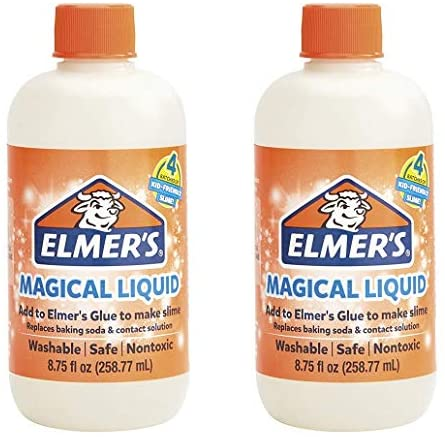 Elmers Glue Slime Magical Liquid Activator Solution, 8.75 fl. oz. Bottle - Great for Making Slime, 2 Pack: Toys & Games