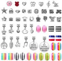 DIY Charm Bracelet Making Kit, Acejoz 85 Pcs Charm Bracelet Making Kit for Girls Ages 7~12, Adults and Kids Jewelry Making