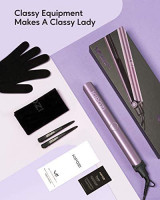 KIPOZI Hair Straightener Flat Iron for Hair V5 with Titanium Plate Advanced Ionic Technology Makes Hair Smoother and Keeps it Healthier, 2 in 1 Straightener and Curler.: Health & Personal Care