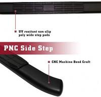 "TAC Side Steps Running Boards Fit 2019-2021 Chevy Silverado/GMC Sierra 1500|2020 Silverado/Sierra 2500 3500 Crew Cab 4.25"" Oval Bend Black PNC Side Bars Step Rails Nerf Bars 2Pcs: Automotive"