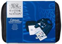 Winsor & Newton Cotman Water Colour Paint Travel Bag, Set of 14, Half Pans