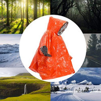SAINUOD Emergency Survival Poncho Waterproof Blanket Rain Ponchos Keeps You Dry and Warm for Outdoor Activity | 2 Pack (Orange) : Sports & Outdoors