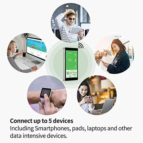GlocalMe G4 Pro 4G LTE Mobile Hotspot, Worldwide WiFi Portable High Speed WiFi Hotspot with US 8GB & Global 1GB Data, No SIM-Card, Pocket MIFI,Buy US Data 12G, get 12G Free (Gray)