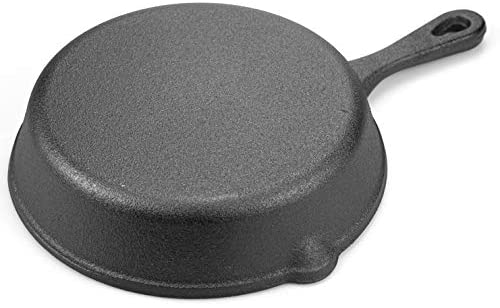 Lawei Cast Iron Skillets - 6 Inch Non-Stick Pre-Seasoned Skillet Frying Pan for Kitchen Cooking Eggs, Meat, Pancake, Indoor and Outdoor Use, Oven, Grill, Stovetop, Induction Safe: Kitchen & Dining