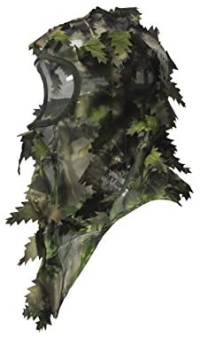 North Mountain Gear Ambush HD Camouflage Hunting Full Cover Leafy 3D Face Mask (Green) : Clothing