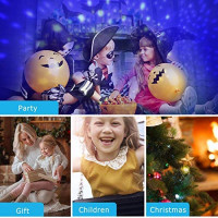 Night Lighting Lamp,Star Light Rotating Projector,360 Degree Romantic Rotating Cosmos Star Projector 4 LED Bulbs 9 Modes for Children Kids Bedroom,The Best Gift for Friends and Family (Blue): Home Improvement