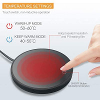 Coffee Mug Warmer, Beetwo Auto On/Off Gravity-induction Coffee Warmer for Desk Use, Candle Wax Cup Warmer Heating Plate: Kitchen & Dining