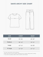 DAVID ARCHY Men's Cotton Sleepwear Button-Down Pajamas Set: Clothing