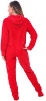 Alexander Del Rossa Women's Warm Fleece One Piece Footed Pajamas, Adult Onesie with Hood at Women's Clothing store