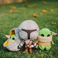 Buckle-Down Dog Toy, Mandalorian, Baby Yoda, Plush Star Wars The Child Sitting Pose : Pet Supplies