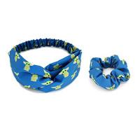 BLAISTER Cute Baby Yoda Headbands Hair Scrunchies for Women, Non Slip Stretchy Breathable Hair Bands Criss Cross Head Wrap Elastic Hair Tie Ropes Hair Accessories : Beauty