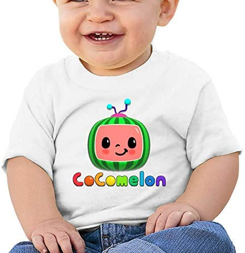 Coco-Melon Shirt Baby Cotton Soft Comfortable Healthy Toddler T-Shirt, 3D Printing Watermelon Pattern Baby Clothes: Clothing