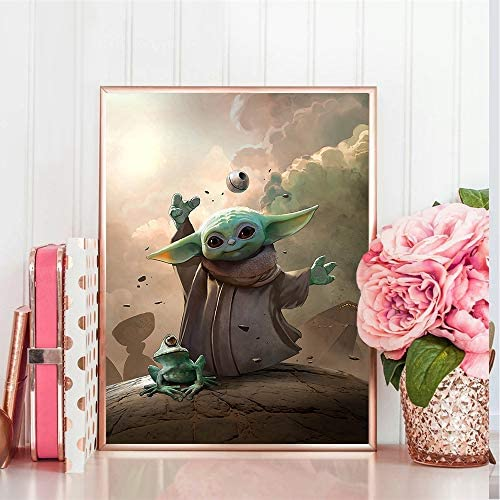 5D Diamond Painting Movie Star Wars Master Yoda Diamonds Embroidery Full Round Mosaic Wall Art Picture Home Decoration Kids Gift