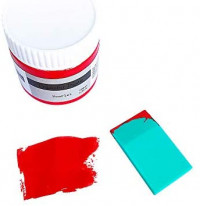 Transfer Paste, Screen Printing Chalk Paint for DIY Home Decor, Rich Pigments, Non Fading, Non Toxic (Pack of 6 Colors)