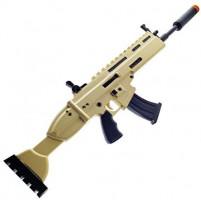 FN Toy Gun, High Density Foam Gun: Scar Rifle with Silencer Custom Props Replica Yellow: Clothing