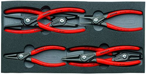 KNIPEX Tools - 6 Piece Circlip Pliers Set In Foam Tray (002001V02)