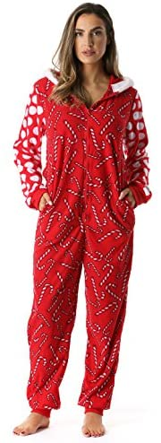 #followme Adult Christmas Onesie for Women Jumpsuit One-Piece Pajamas: Clothing
