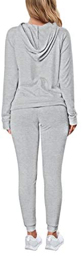 Selowin Women Casual Sweatsuit Pullover Hoodie Sweatpants Sport Outfits Jogger Set: Clothing