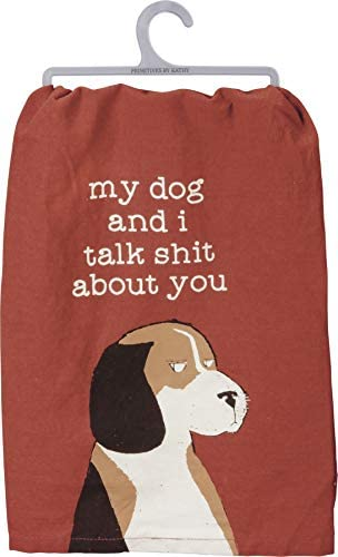 "Primitives by Kathy Rustic Dish Towel, 28"" x 28"", I'll Be Watching You: Home & Kitchen"