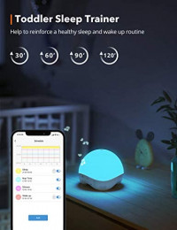 TaoTronics White Noise Machine, RGB & Warm Night Light with 25 Non-Looping Sounds, APP & Voice Control, Auto-Off Timer, Sleep Trainer for Baby, Toddlers & Adults: Health & Personal Care