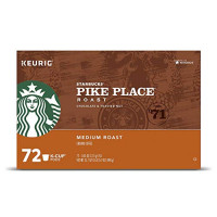 Starbucks Pike Place Roast Coffee K-Cup Portion Packs for Keurig Brewers, 72 Count (3 boxes of 24 K-Cups): : Grocery & Gourmet Food