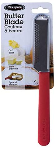 Microplane Blade Butter Spreader, One Size, Red: Butter Knives