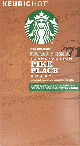 Starbucks Decaf Pike Place Roast, K-Cup for Keurig Brewers, 24 Count: : Grocery & Gourmet Food