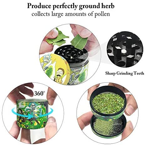 Metal Rolling Tray Combo Kit with Aluminum Herb Grinder Metal Crusher, Smell Proof Jar Set: Kitchen & Dining