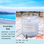 Darente Scented Candle Smokeless Scented Scented Candle Transparent Glass Candle Gift Box