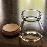 Back In Stock-Airtight Jar, 23.67 FL OZ (700 ML) Glass Storage Canisters Containers For Coffee, Kitchen Spices & Many More. Borosilicate Jar Bamboo Lid, Freezer & Heat Resistant. Quantity 1 Per Order.: Home Improvement