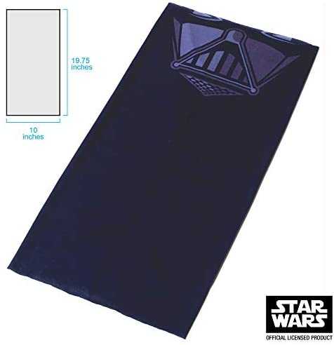 Star Wars unisex adult Gaitor Darth Vader Neck Gaiter, Black, One Size US at Women's Clothing store