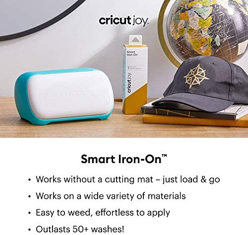 "Cricut Joy Smart Holographic Iron On Vinyl, DIY Supplies, 5.5"" x 24"" HTV Roll - Translucent Blue"